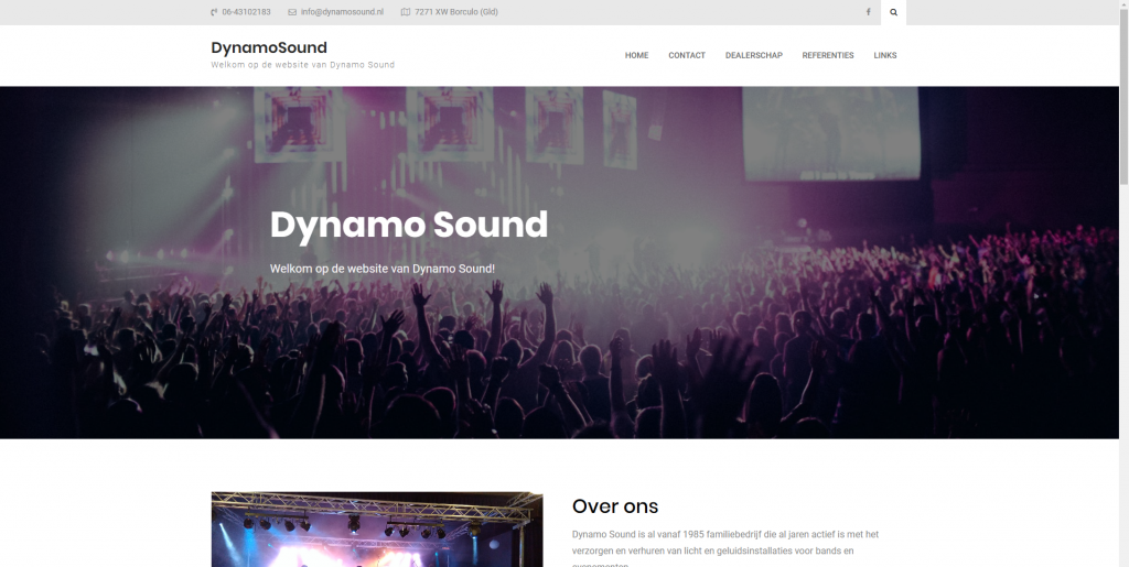 Dynamo Sound website